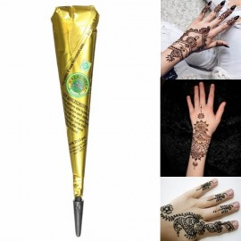 Natural Herbal Quick Dry Henna Paste Cone Temporary Tattoo Body Art Black