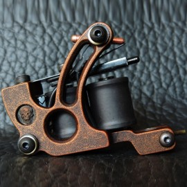 Panther XHJ009C 10-Coil Shader Tattoo Machine Red Bronze