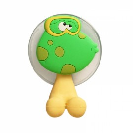 Creative Cute Cartoon Animal Frog Style Powerful Sucker Toothbrush Holder