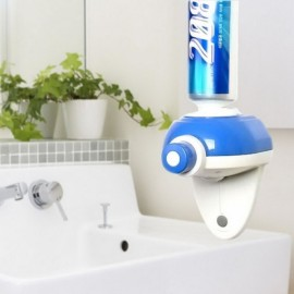 Automatic Hand Touch Toothpaste Dispenser Easy Squeezer Blue & White