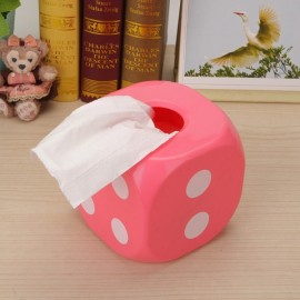 Individual Dice Style Luminous ABS Tissue Box Pink