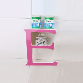 Creative Letter E Bathroom Storage Rack Kitchen Sponge Holder Shelf Pink