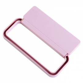 Plastic Pasted Bathroom Towel Rack Removable Kitchen Dishcloth Rack Wardrobe Scarf Rack Pink