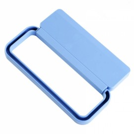 Plastic Pasted Bathroom Towel Rack Removable Kitchen Dishcloth Rack Wardrobe Scarf Rack Blue