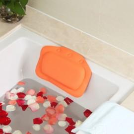 Non-slip Bathroom PVC Bathtub Pillow Headrest SPA Bath Pillow with Suckers Orange