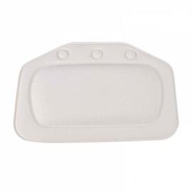 Non-slip Bathroom PVC Bathtub Pillow Headrest SPA Bath Pillow with Suckers White