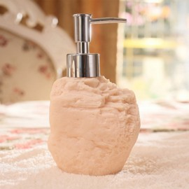 4pcs Bathroom Set Resin Liquid Soap Dispenser Porcelain Soap Toothbrush Holder Home Decoration Sandstone Rock
