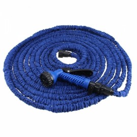 75FT 22.5M 7-Mode Expandable Garden Water Hose Pipe with Spray Nozzle Blue