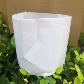Non-woven Planting Bag Home Gardening Vegetable Grow Bags Trees Flower Pots & Planters 30 x 25cm White
