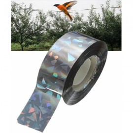 90M Bird Deterrent Tape Audible Visual Flash Pigeon Scare Ribbon Tape Silver Gray
