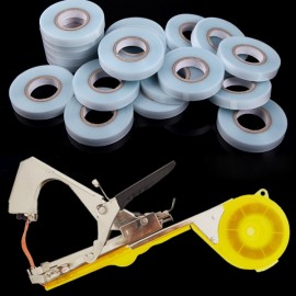 10pcs 30m Professional Garden Fruit Vegetable Flower PVC Tapes Random Color with Plant Hand Tying Binding Machine for Garden Flower Vegetable Random Color