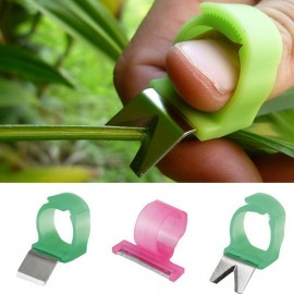 3pcs Adjustable Vegetable Fruit Picker Picking Ring Gardening Harvesting Stainless Steel Cut Tool Random Color