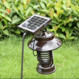 YF-159 Household Solar Power Outdoor Mosquito Killer Lamp Black