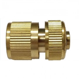 Brass Garden Lawn Water Hose Pipe Fitting Set Connector Tap Adaptor Golden