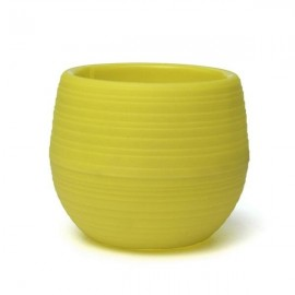 5Pcs Colorful Cute Plant Flower Pot Mini Plastic Round Planter Garden Supplies- Yellow