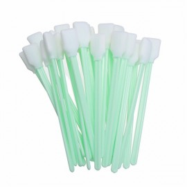 50pcs Dust-free Sanitary Clean Cotton Swabs Sponge Sticks White & Green