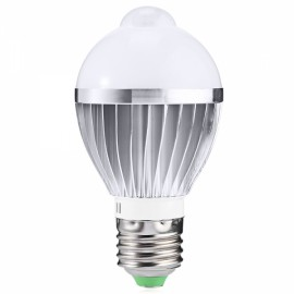 E27 6W 650LM Warm White Human Body and Infrared Sensor Lights LED Bulb (AC 85-265V)