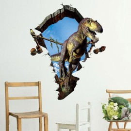 3D Dinosaur Style Removable Wall Sticker Water Resistant Decorative Art Poster for Sitting / Kids / Living Room / Party