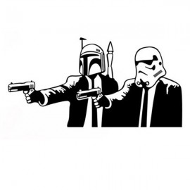 Star Wars Meets Pulp Fiction Style Wallpaper Cool Removable Water Resistant Wall Sticker PVC Decals Black