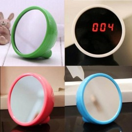 Mirror LED Digital Alarm Clock Portable Multi-Function Clock Blue