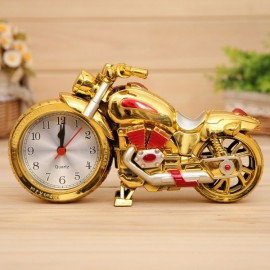 Creative Motorcycle Alarm Clock Watch Motorbike Home Vintage Decor Gift #3 Red & Goldem