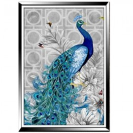 32 x 45cm 5D Diamond Embroidery DIY Beautiful Blue Peacock Decorative Picture Head to Right
