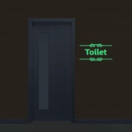 Luminous Sticker Toilet Pattern Removable Sticker Glow In The Dark Wall Door Decor Luminous Green