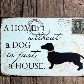 Individual Black Dog Tin Sign Stamp Vintage Pub Wall Decor