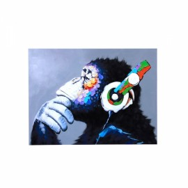 Colorful Musical Gorilla Oil Painting Spray Painting Size S