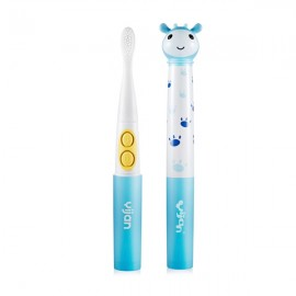 Kids Interesting Music Toothbrush Auto Vibration Teeth Whitening Healthy Silicone Brush Head Electric Toothbrush Blue