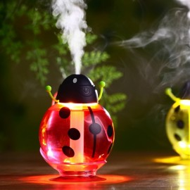New Beatles Ultrasonic Humidifier USB Car Humidifier Mini Aroma Essential Oil Diffuser Aromatherapy Mist Maker Home Office Red