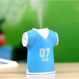 USB Ultrasonic Air Shirt-shaped Humidifier SPA Aromatherapy Diffusers Mist Maker Portable Purifier Blue