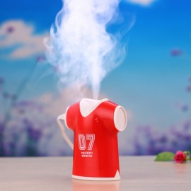 USB Ultrasonic Air Shirt-shaped Humidifier SPA Aromatherapy Diffusers Mist Maker Portable Purifier Red