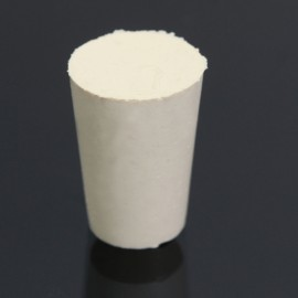 10pcs Flask Test Tube Solid Tapered Rubber Stopper Plug Bung Laboratory Sealing Apparatus 15 x 11 x 21mm White