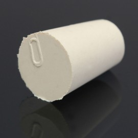 10pcs Flask Test Tube Solid Tapered Rubber Stopper Plug Bung Laboratory Sealing Apparatus 33 x 25 x 28mm White