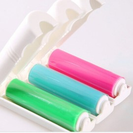 Folding Washable Sticky Travel Portable Clothes Hair Removal Device Random Color