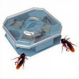 Reusable Plastic Non-toxic Cockroach Bug Roach Motel Catcher Catch Insect Pest Killer Bait Trap Blue