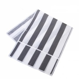 Concise Stripe Pattern Microwave Oven Dust Cover Non-woven Fabric Dustproof Storage Bag Gray