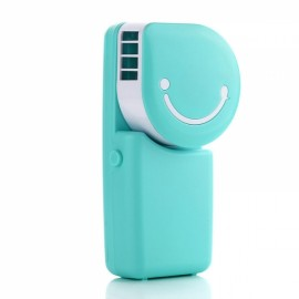 Portable Mini Air Condition USB Rechargeable Water Cooling Fan for Home Office Outdoor Handheld Micro Cooler Fan Blue