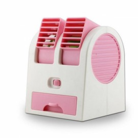 Portable Double Orifice USB Mini Cooling Fan Pink