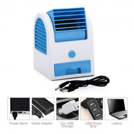 Portable Single Orifice USB Mini Cooling Fan Blue