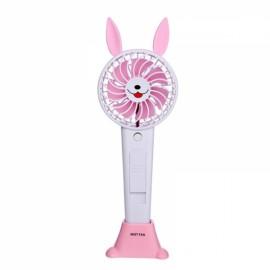 1200MA Cute Animal USB Rechargeable Fan Handheld Spray Fan Summer Water Mist Fan 3 Type Bear Baby Pink