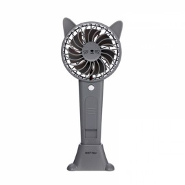 1200MA Cute Animal USB Rechargeable Fan Handheld Spray Fan Summer Water Mist Fan 3 Type Bear Baby Gray