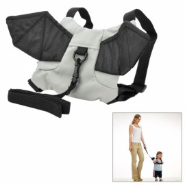 Cool Bat Style Toddlers Belt Kids Safety Harness Black & Grey