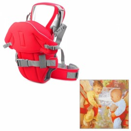 6-in-1 Multifunction Comfortable Cotton Baby Carrier Sling Red & Grey