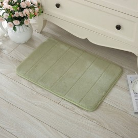 40 x 60cm Coral Velvet Memory Foam Rug Bathroom Mat Soft Non-slip Floor Carpet Grass Green