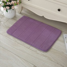 40 x 60cm Coral Velvet Memory Foam Rug Bathroom Mat Soft Non-slip Floor Carpet Purple