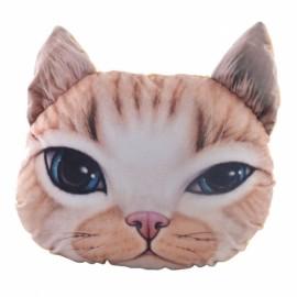 Individual Creative 3D Cat Style Throw Pillow Sofa Bed Cushion Yellow
