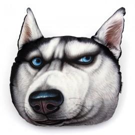 28 x 22cm Plush Creative 3D Dog Face Angry Husky Throw Pillow Sofa Car Seat Cushion