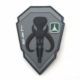 TAD Patch Bounty Hunter Character PVC Armbands Badge Gray